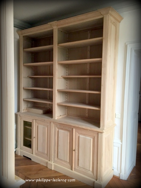 biblioth que de bureau sur mesure dissimulant un radiateur. Black Bedroom Furniture Sets. Home Design Ideas