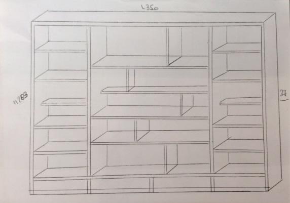 Plan dessiné meuble sur mesure