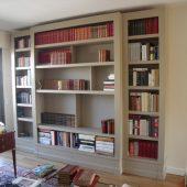Bibliothèque contemporiane peinte