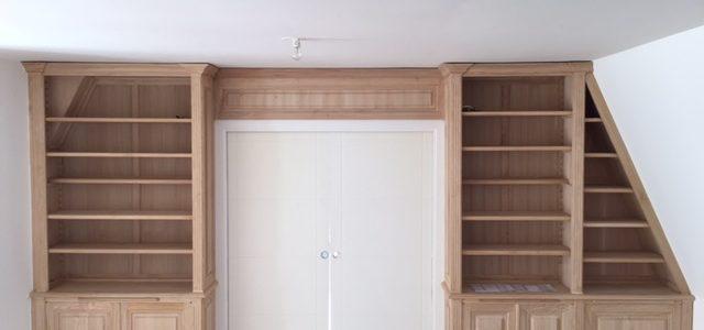 Aménagement de meubles sur-mesure pour pièces mansardées