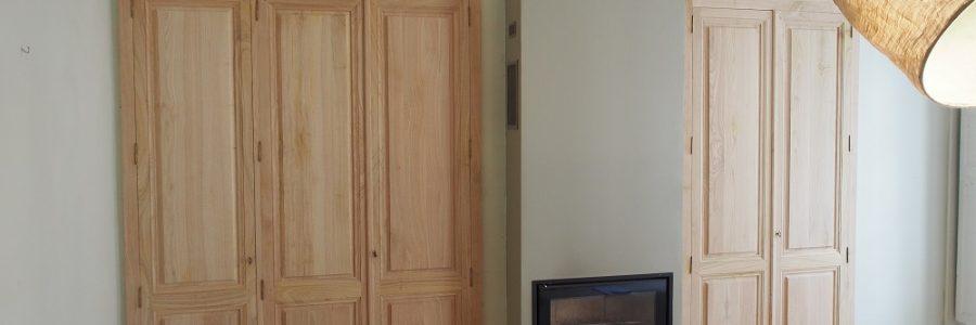 Façades néo-classique pour remplacer d'anciennes portes plates