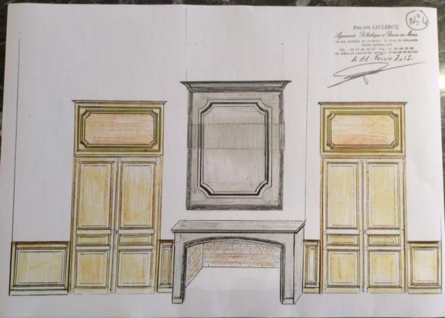 des plans dessin s la main pour des meubles sur mesure. Black Bedroom Furniture Sets. Home Design Ideas