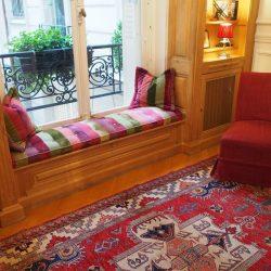 Décoration d'intérieur pour une entrée d'un appartement du XVIIeme arrondissement de Paris