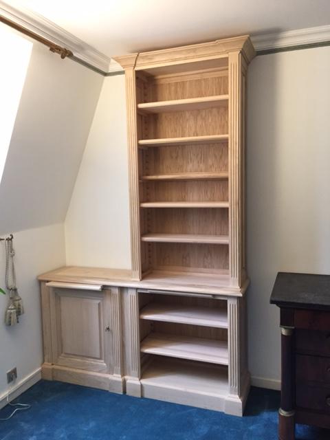 biblioth ques et buffet bas de style louis xvi. Black Bedroom Furniture Sets. Home Design Ideas