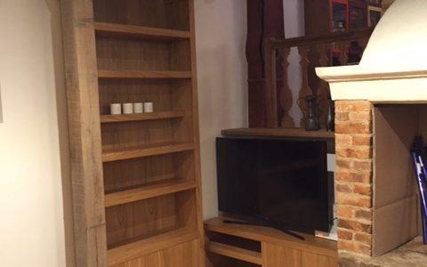Ensemble de 3 meubles en châtaigner naturel ciré