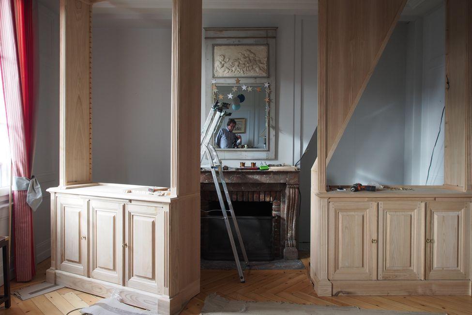 Paire de bibliothèques néo-classique de style Louis XVI