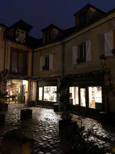 Magasin à Versailles aux couleurs de Noël