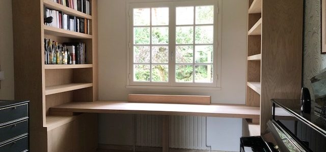 Bibliothèque-bureau contemporain