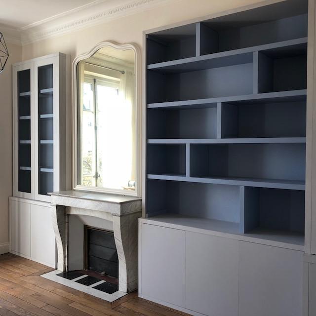 BIBLIOTHÈQUES CONTEMPORAINES Magasin de meubles sur-mesure à Versailles