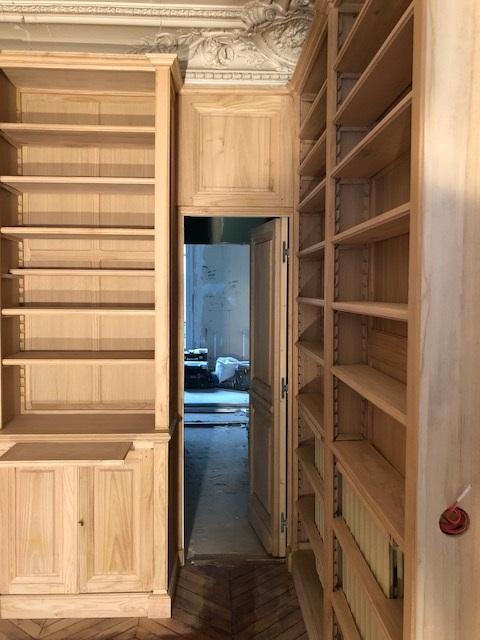 Bibliothèques et Boiseries sur mesure pour un bel appartement du 8ème arrondissement de Paris