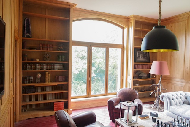 bibliothèques dans salon